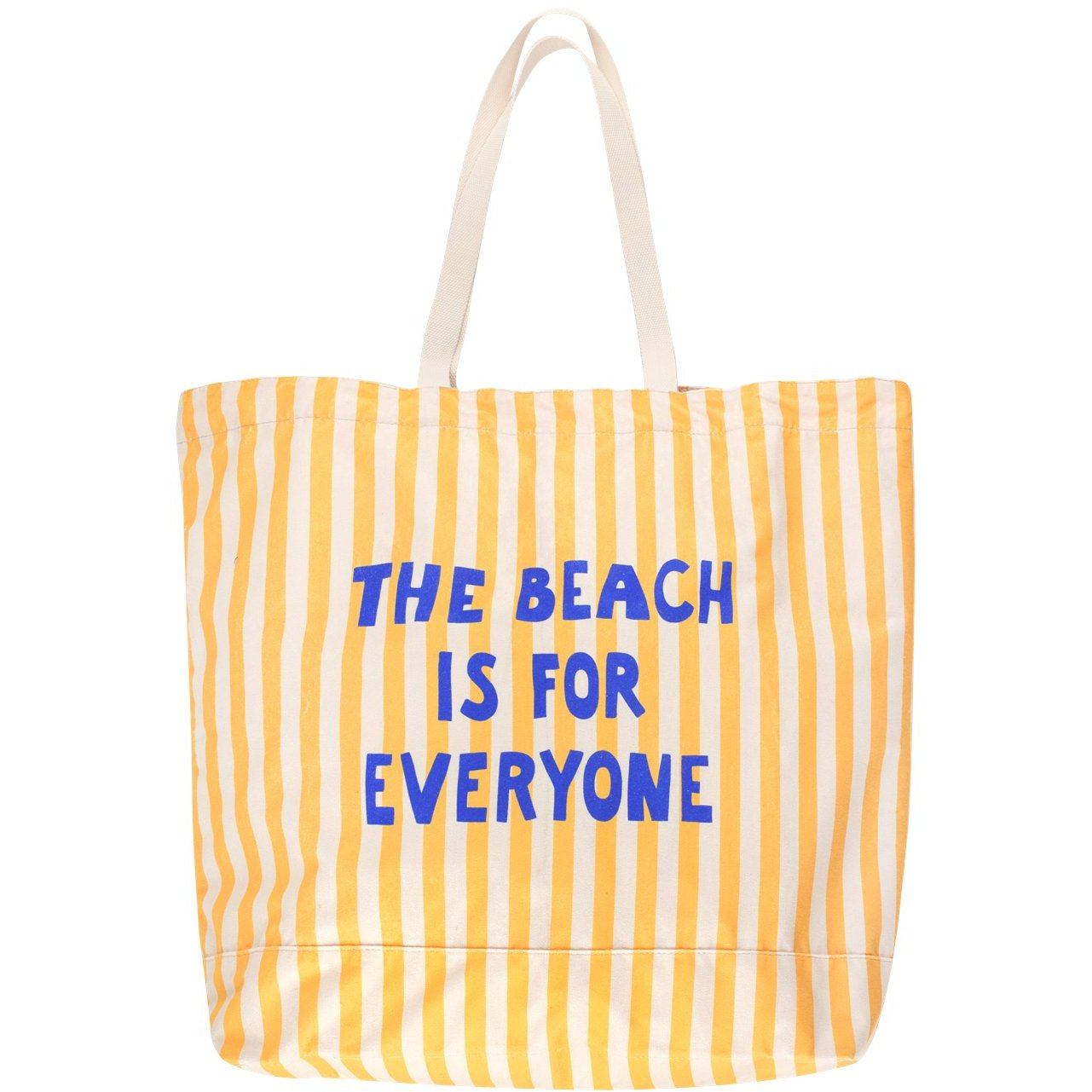 tinycottons the beach is for everyone tote bag yellow light cream