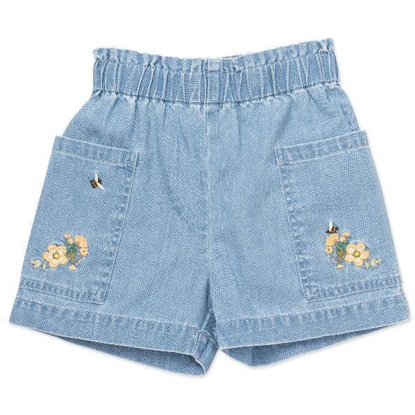 bonton embroidered shorts denim blue