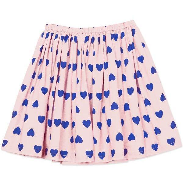 bonton hearts woven skirt pale pink