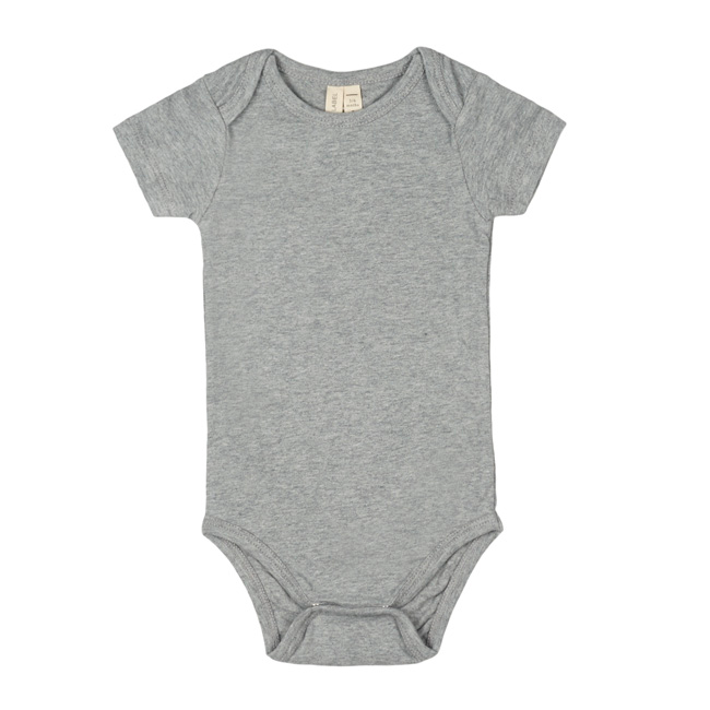 gray label baby onesie grey melange