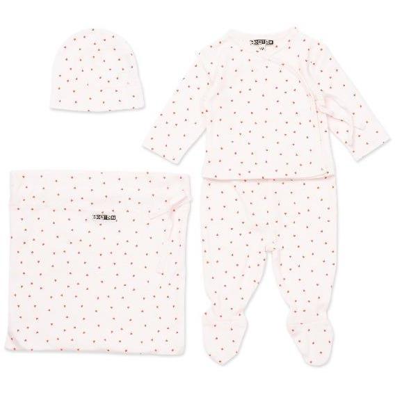 bonton hearts baby gift set pink