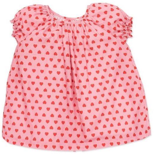 bonton hearts baby dress pink red