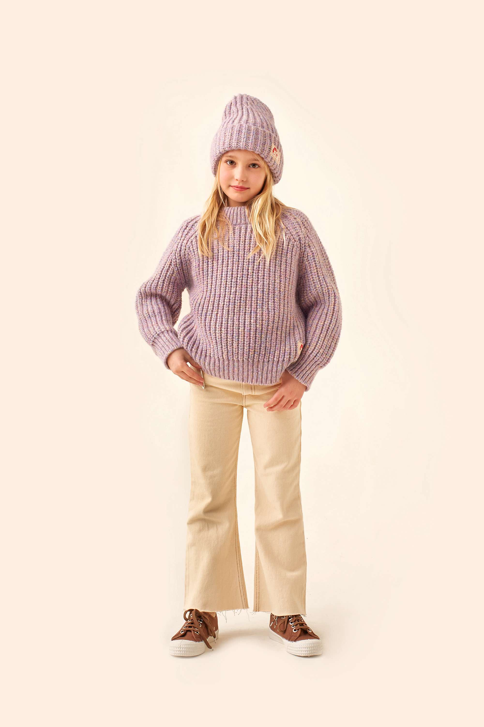 tinycottons mockneck sweater pastel multicolor