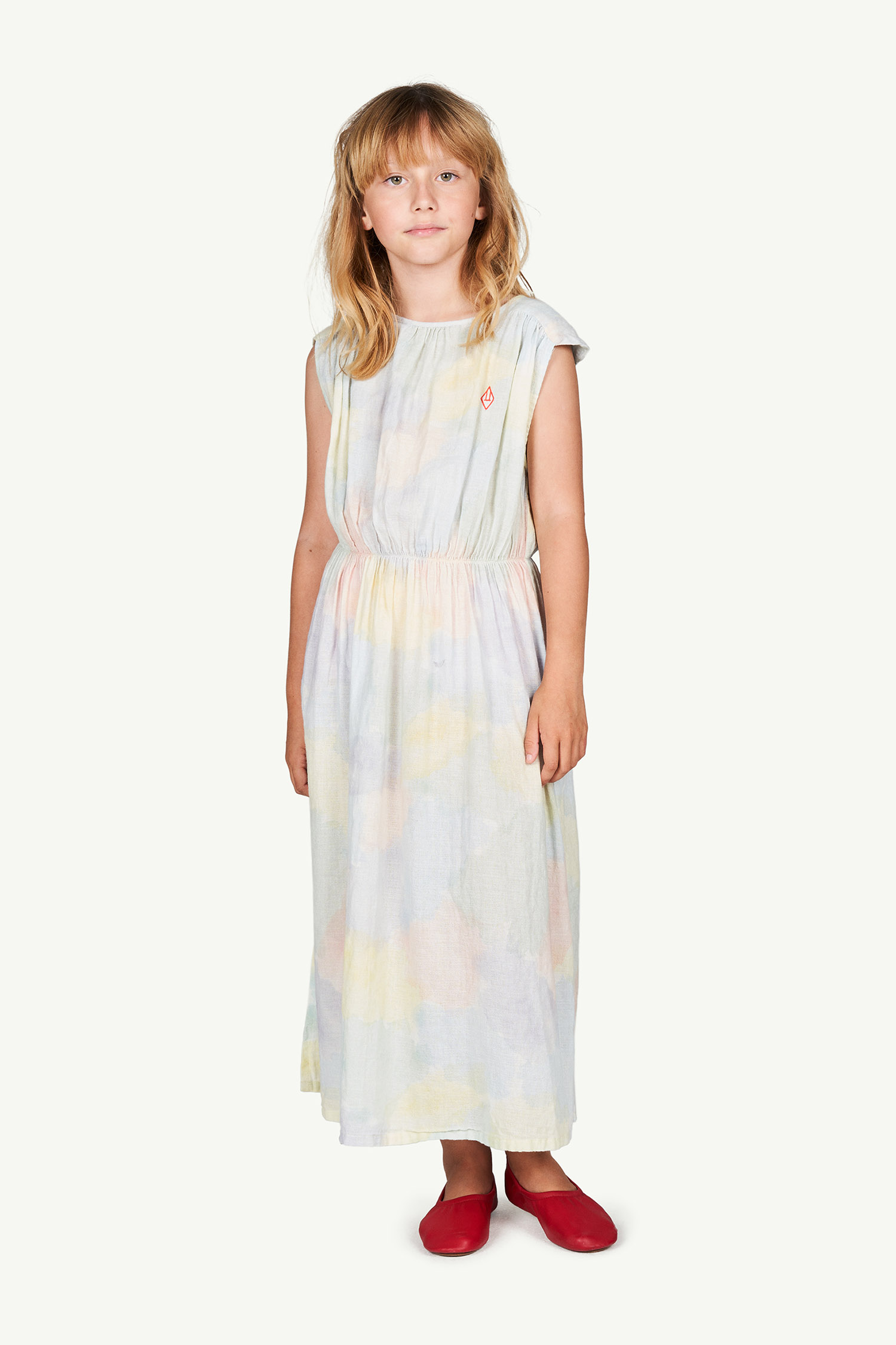 the animals observatory marten kids dress multicolor watercolor