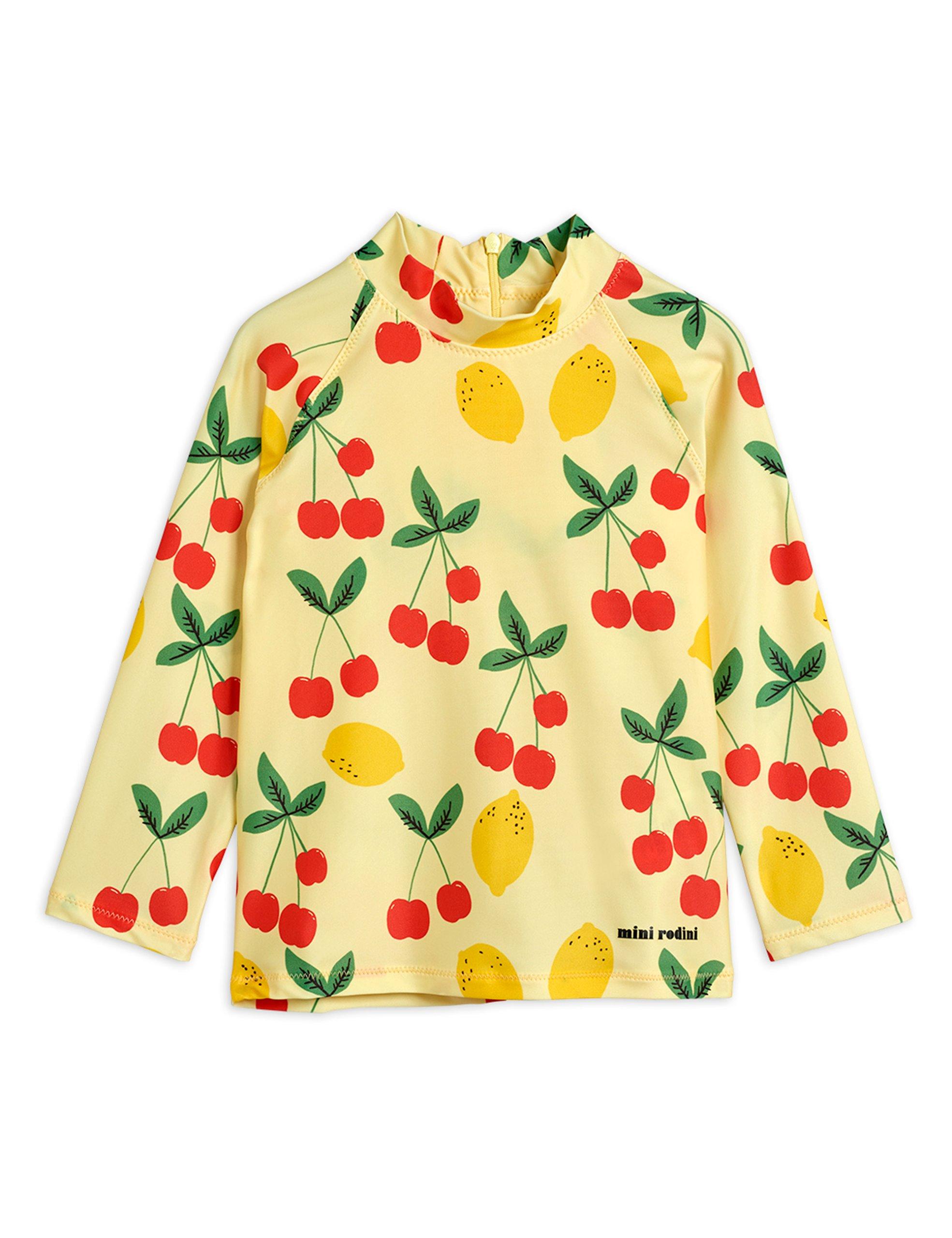 mini rodini cherry lemonade uv top yellow