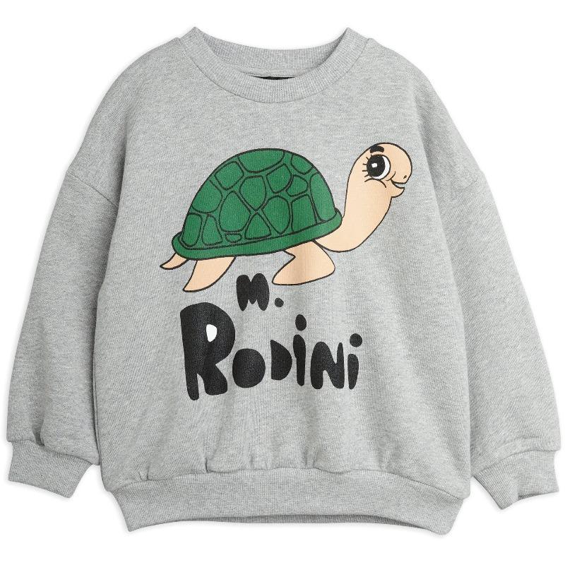 mini rodini turtle sweatshirt grey melange