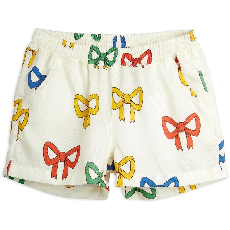 mini rodini bow allover woven shorts offwhite