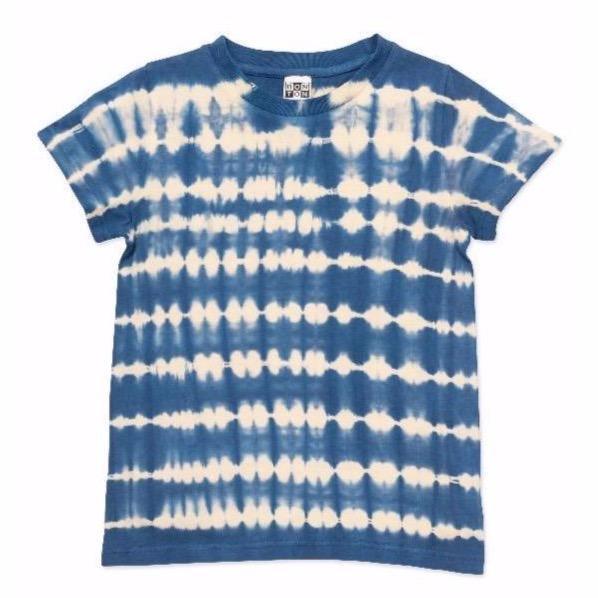 bonton t-shirt tie dye blue