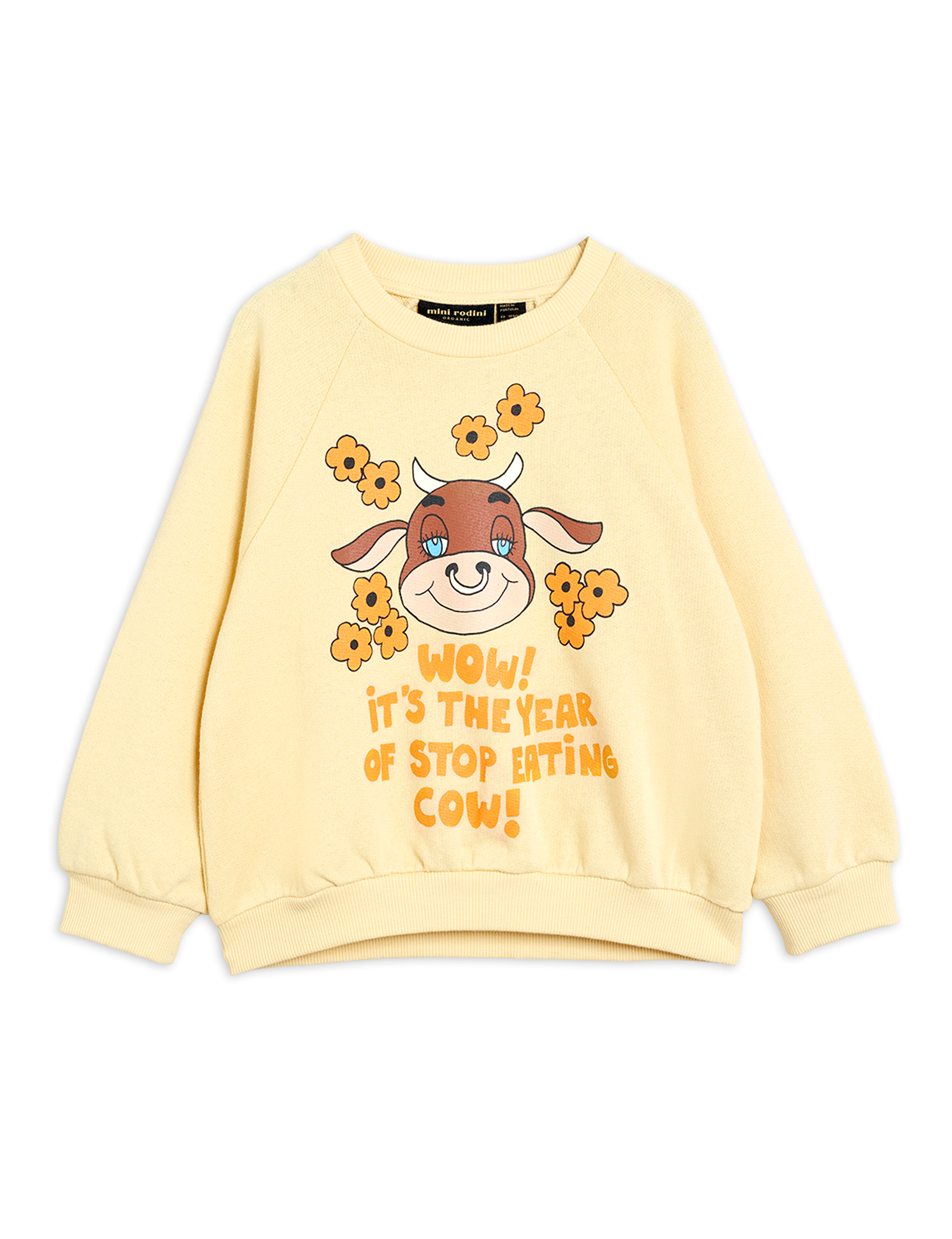 mini rodini vegan sweatshirt yellow exclusive