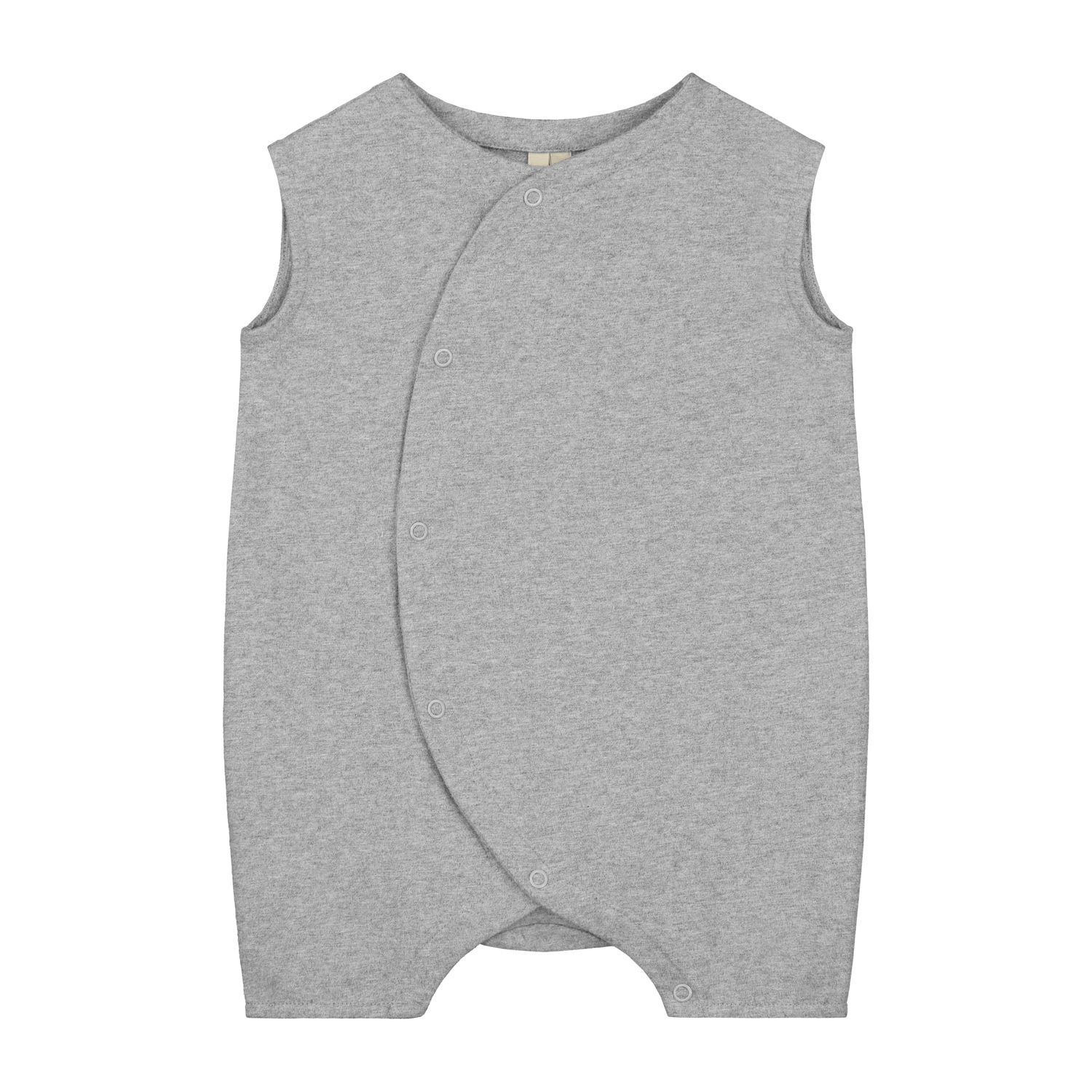 gray label baby grow with snaps grey melange