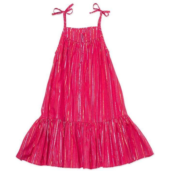 bonton violet dress multi