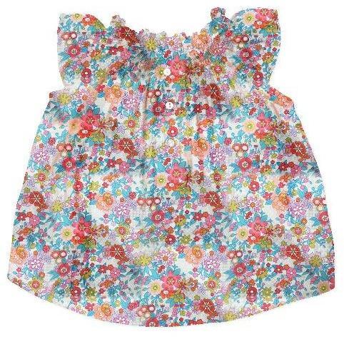bonton liberty floral baby blouse daisies