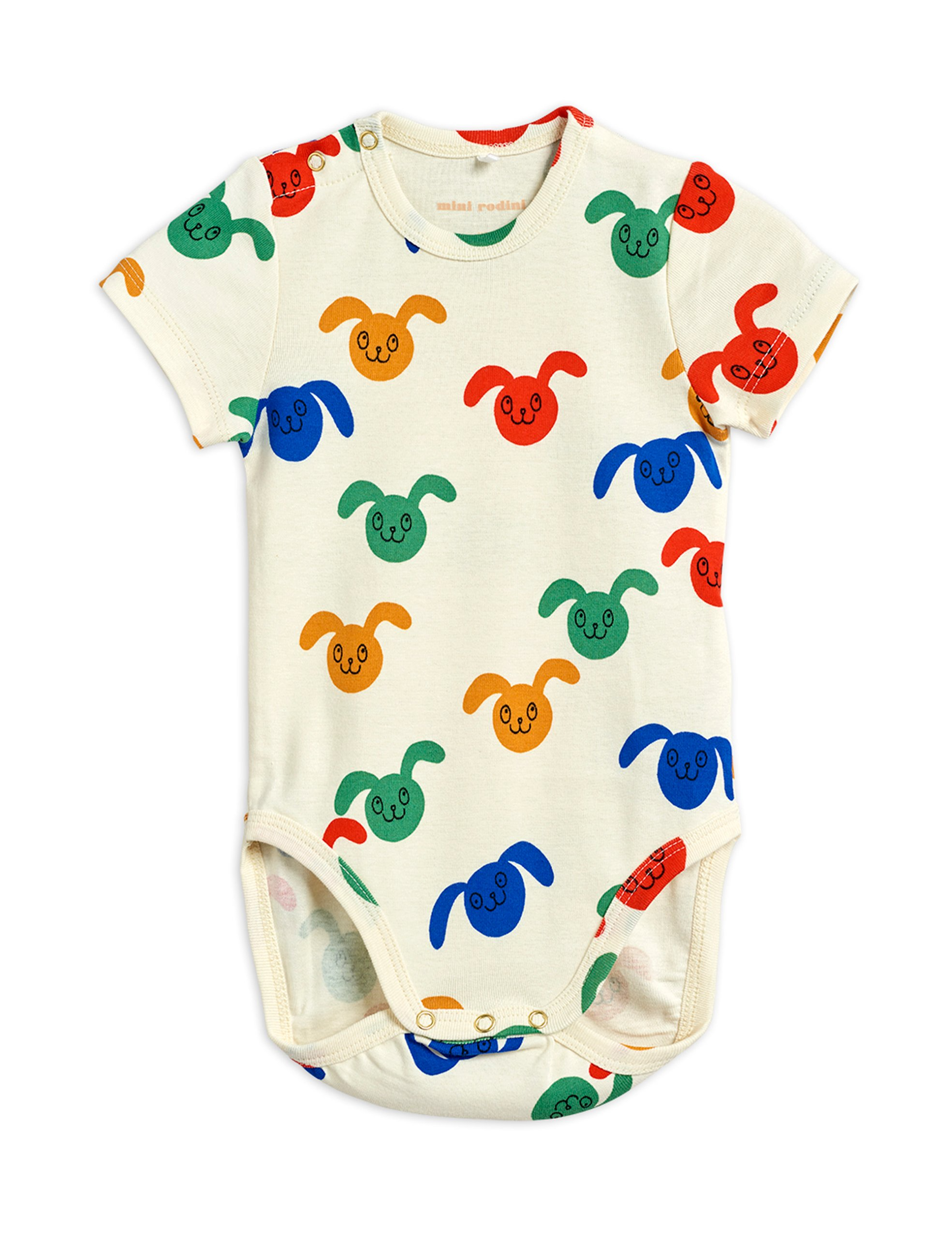 mini rodini rabbits allover wrap baby body multi