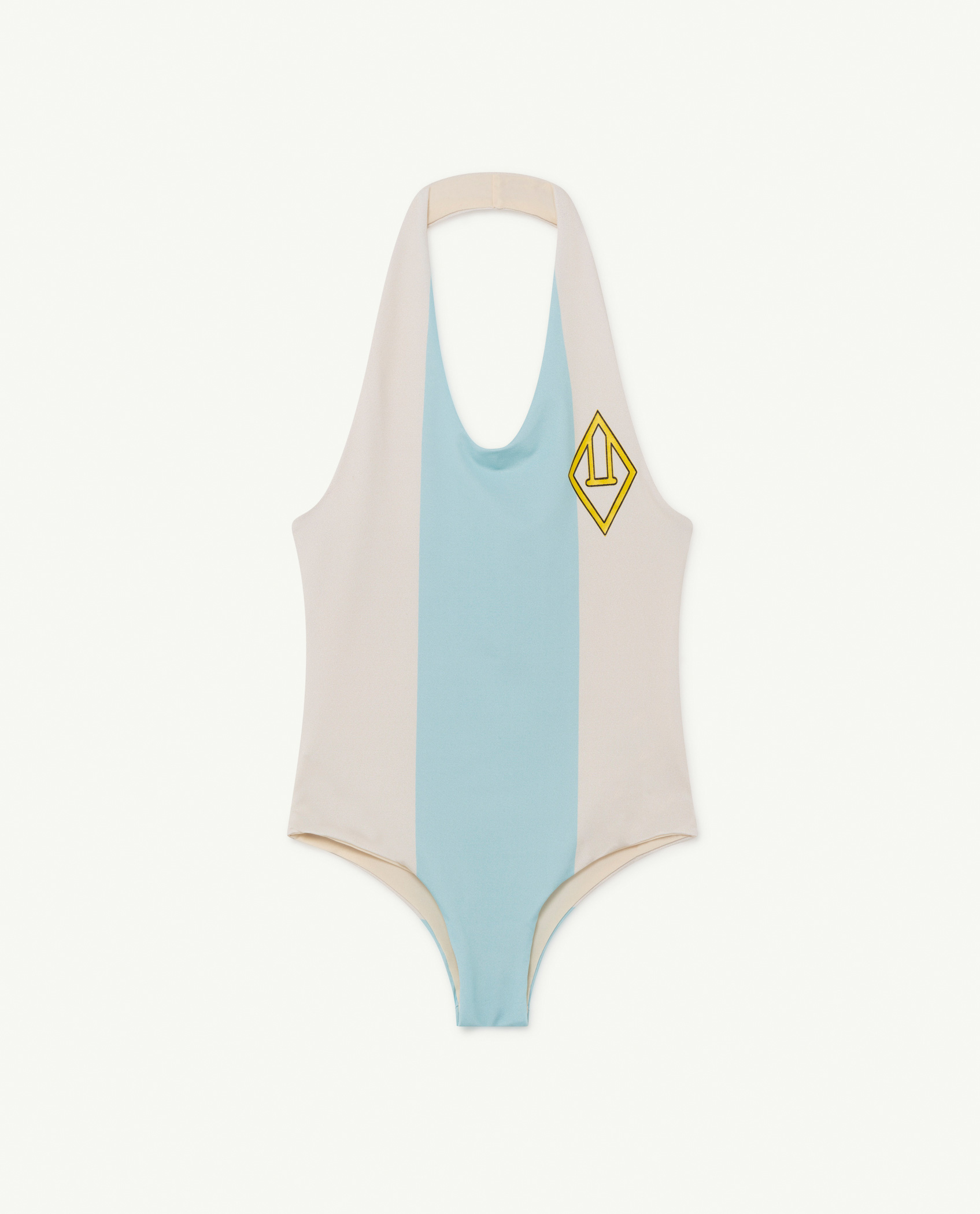 the animals observatory fish kids swimsuit white stripe