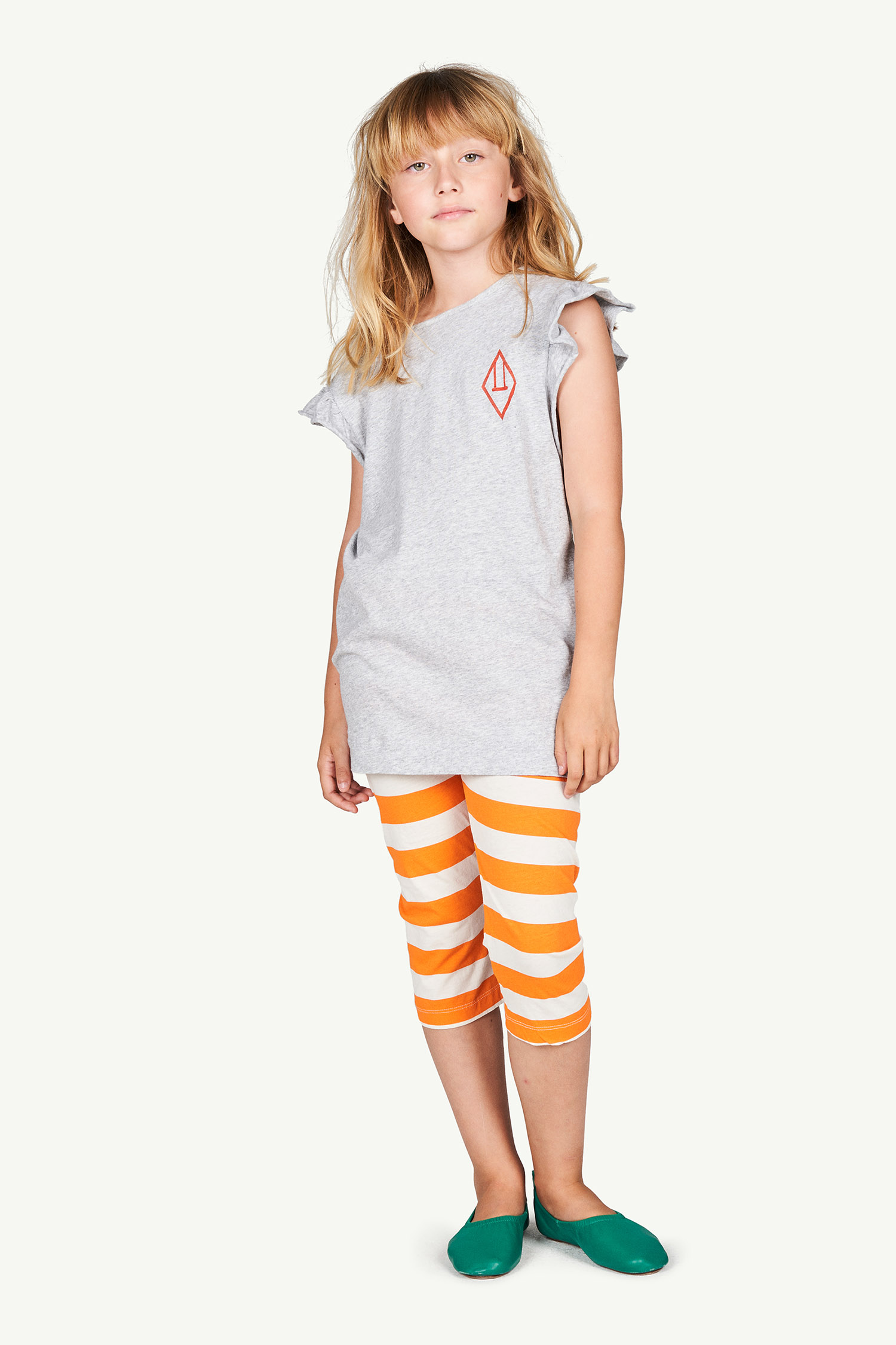 the animals observatory eagle kids leggings white stripes