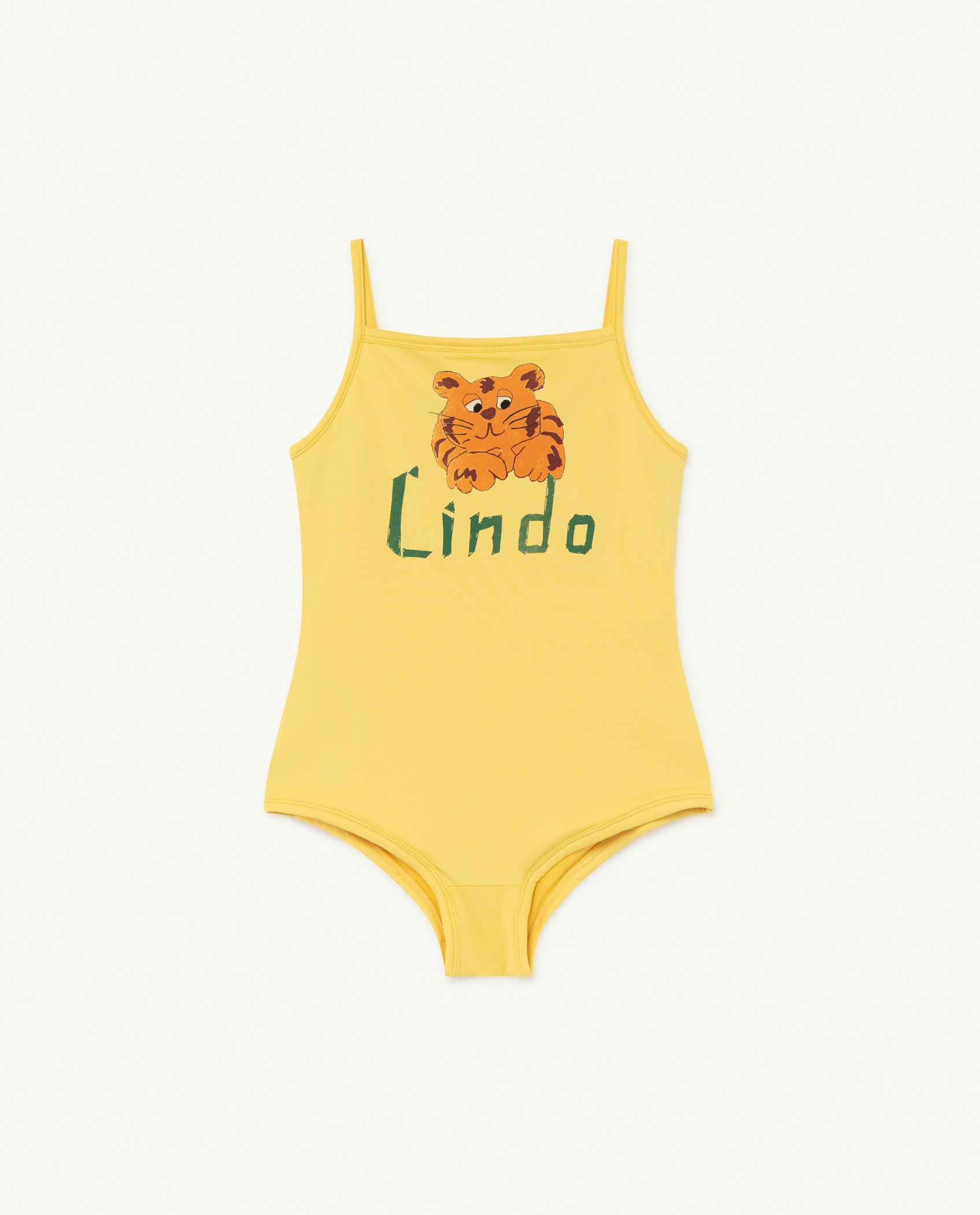 the animals observatory octopus kids swimsuit yellow lindo
