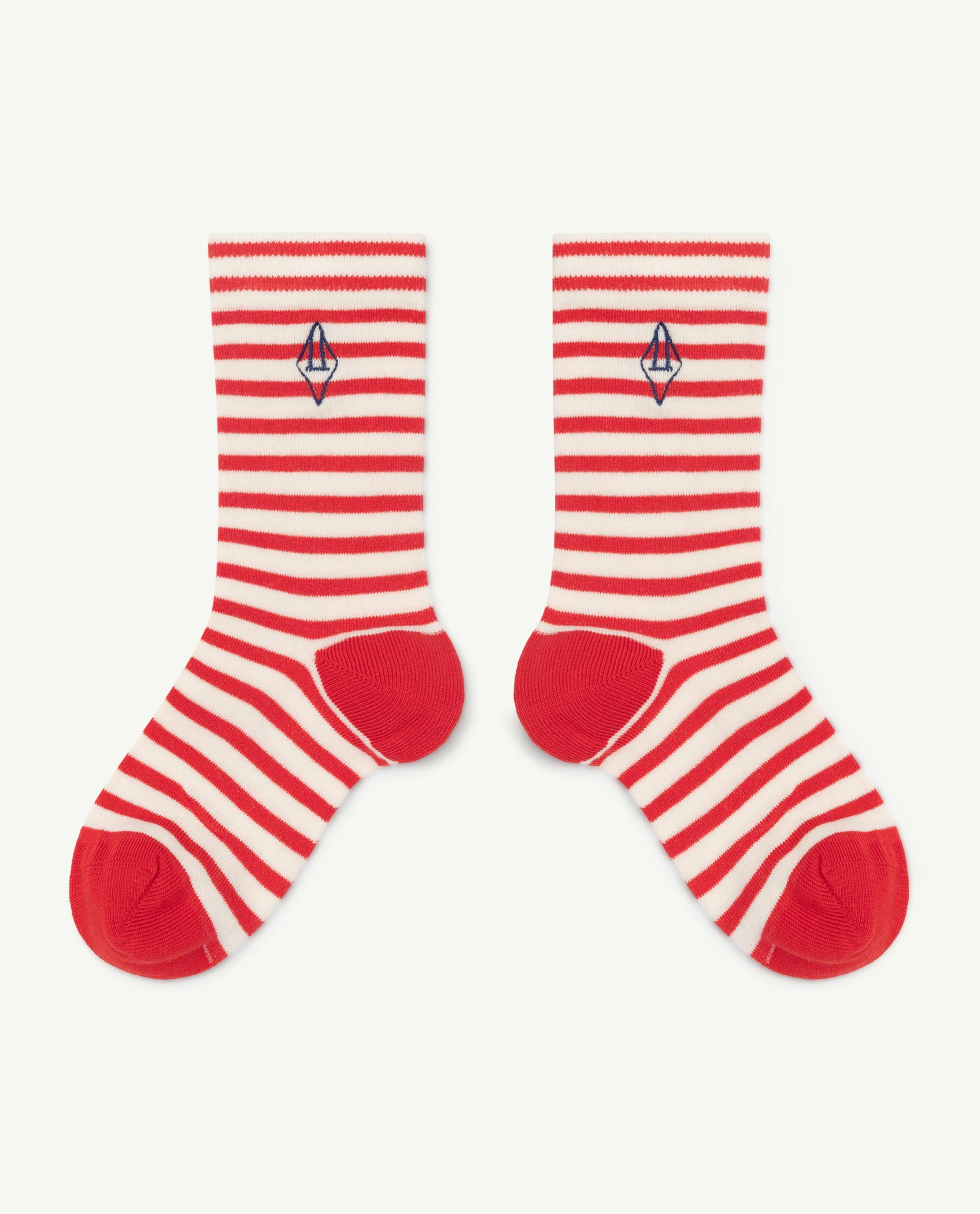 the animals observatory snail socks red logo