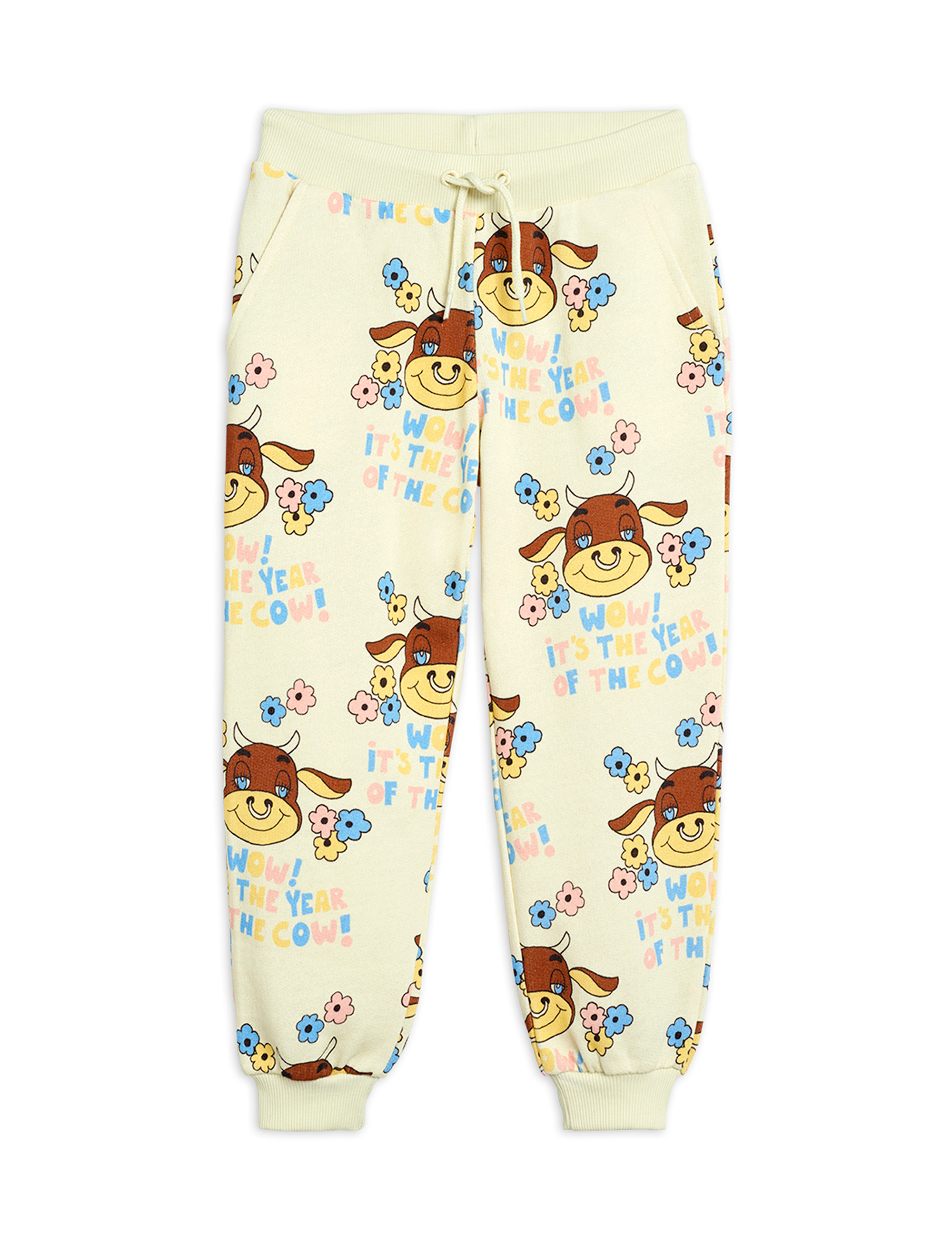mini rodini wow cow sweatpants off white exclusive