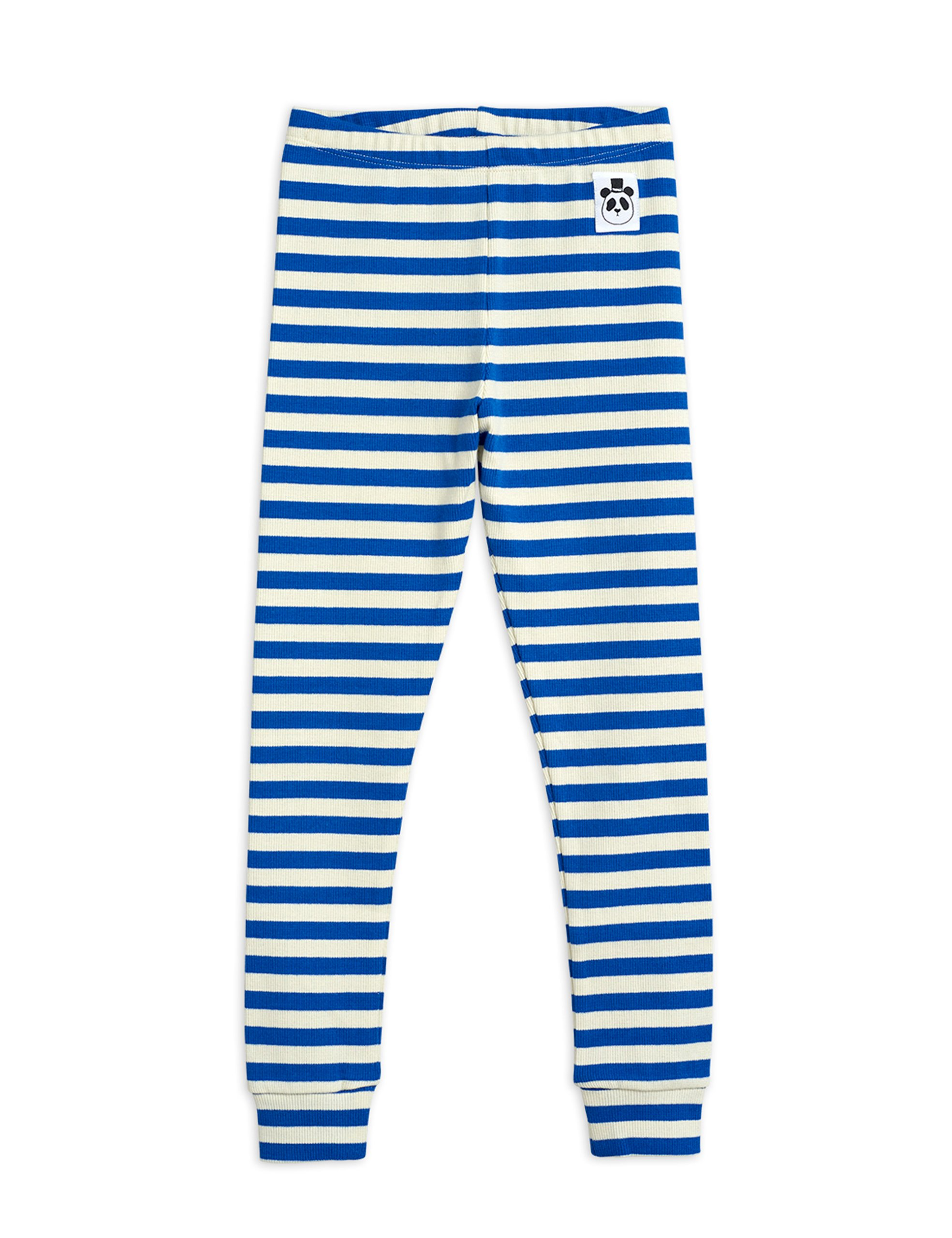 mini rodini stripe ribbed leggings blue