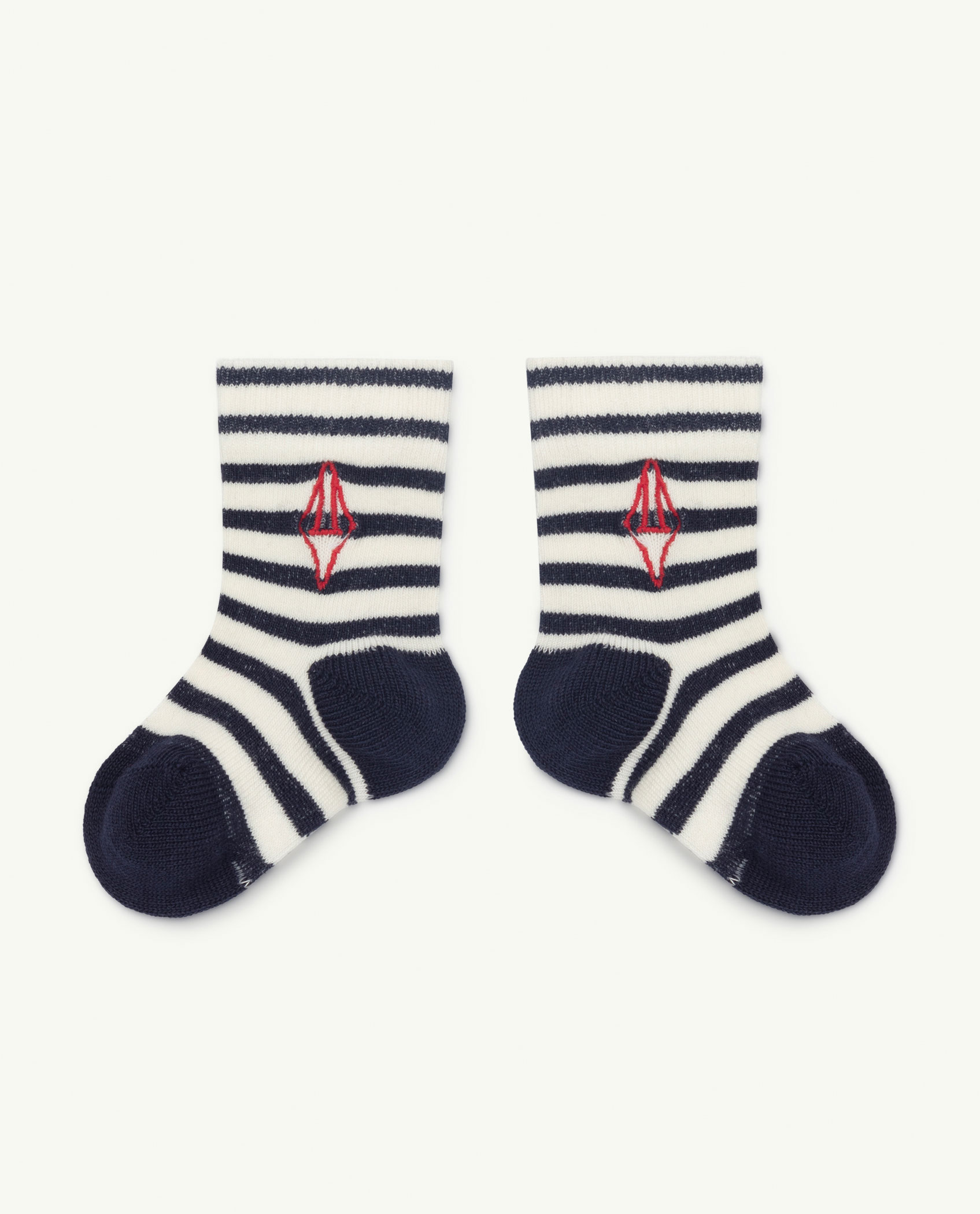 the animals observatory snail baby socks navy logo