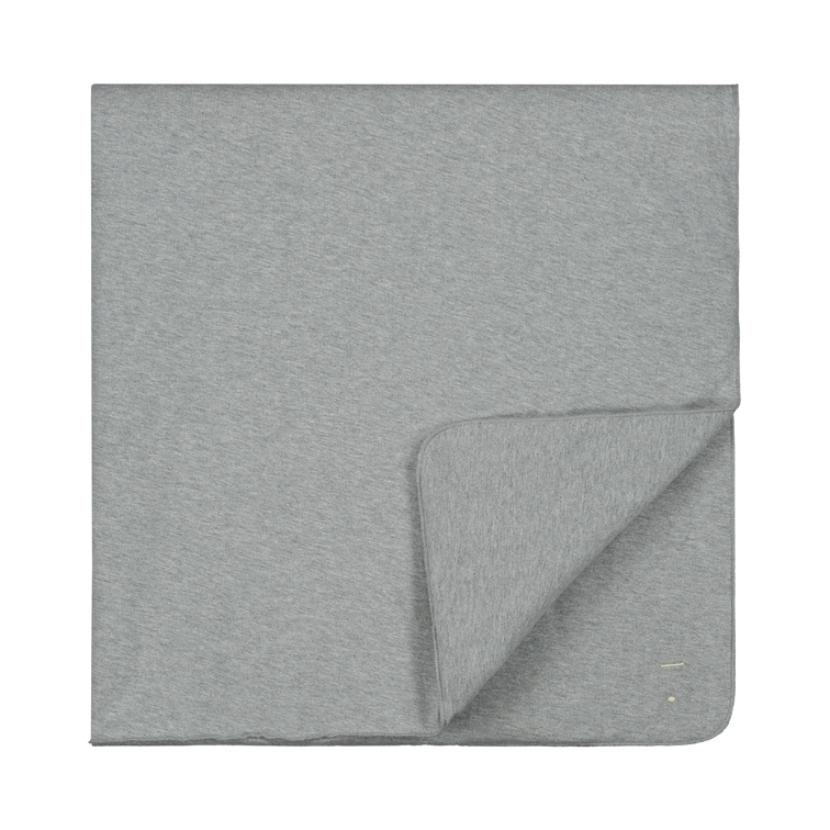 gray label baby blanket grey melange