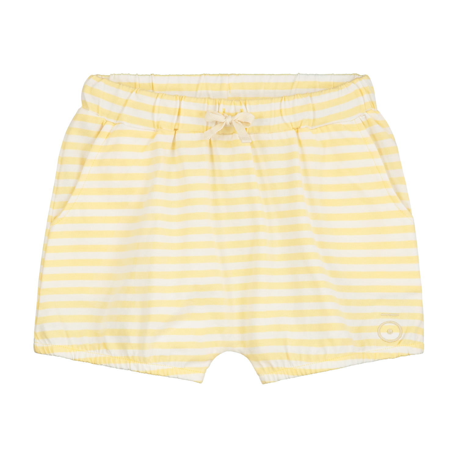 gray label puffy shorts mellow yellow off white