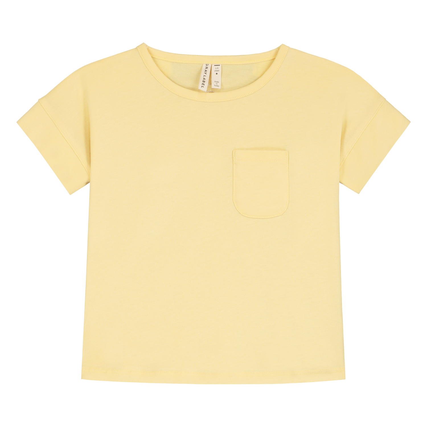 gray label boxy tee mellow yellow