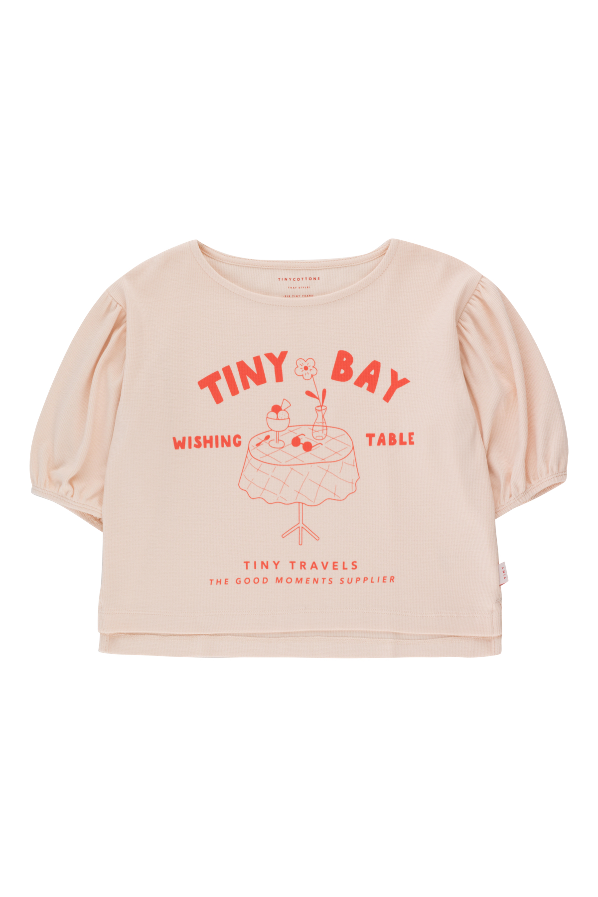 tinycottons wishing table blouse pastel pink red
