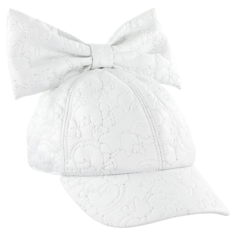 caroline bosmans cap with bow matte white