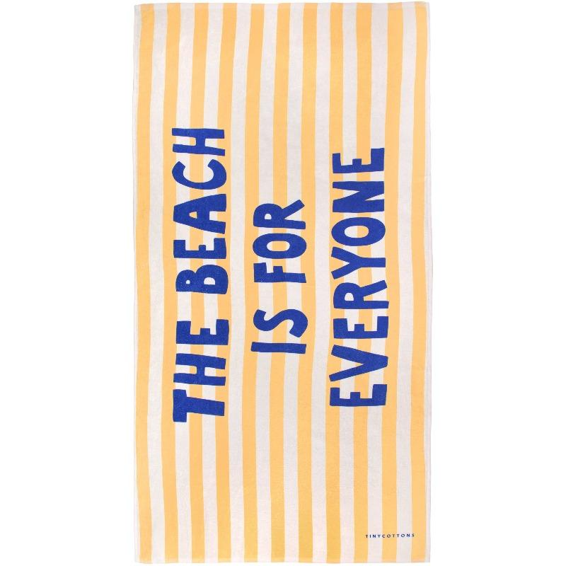 tinycottons manifesto towel light cream yellow