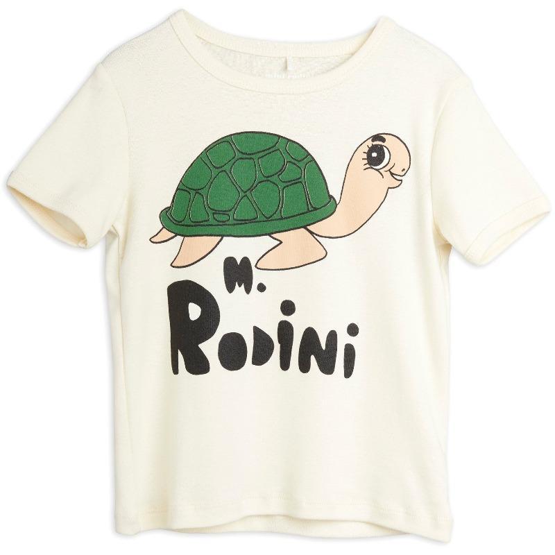 mini rodini turtle short sleeve tee offwhite