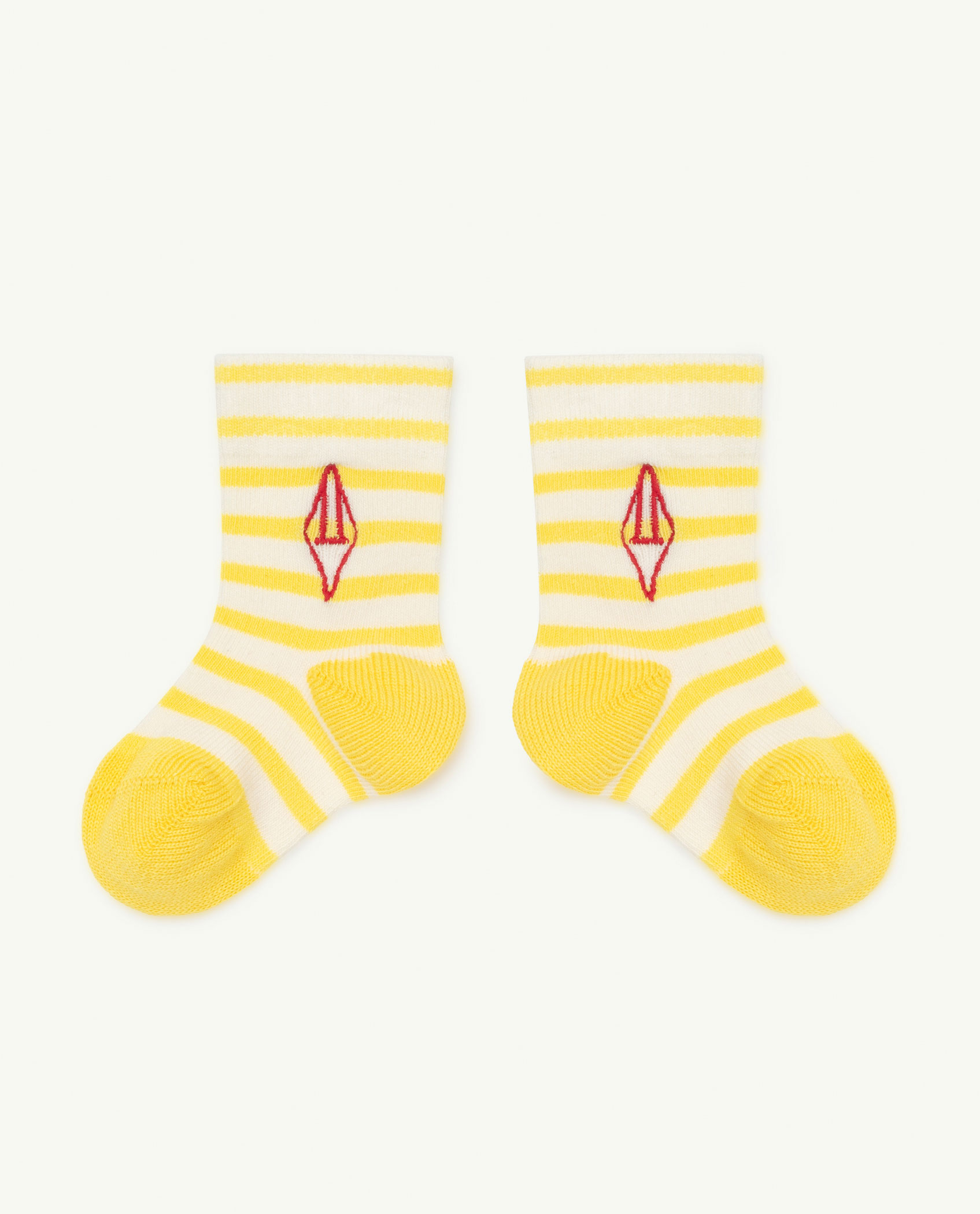 the animals observatory snail baby socks yellow logo