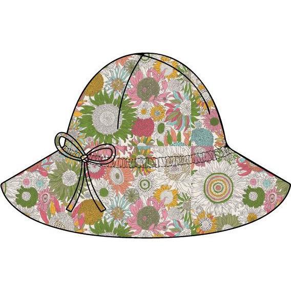 bonton liberty floral baby hat fuchsia