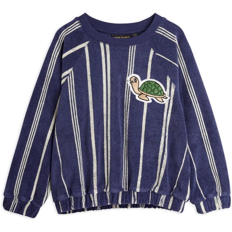 mini rodini turtle terry sweatshirt navy