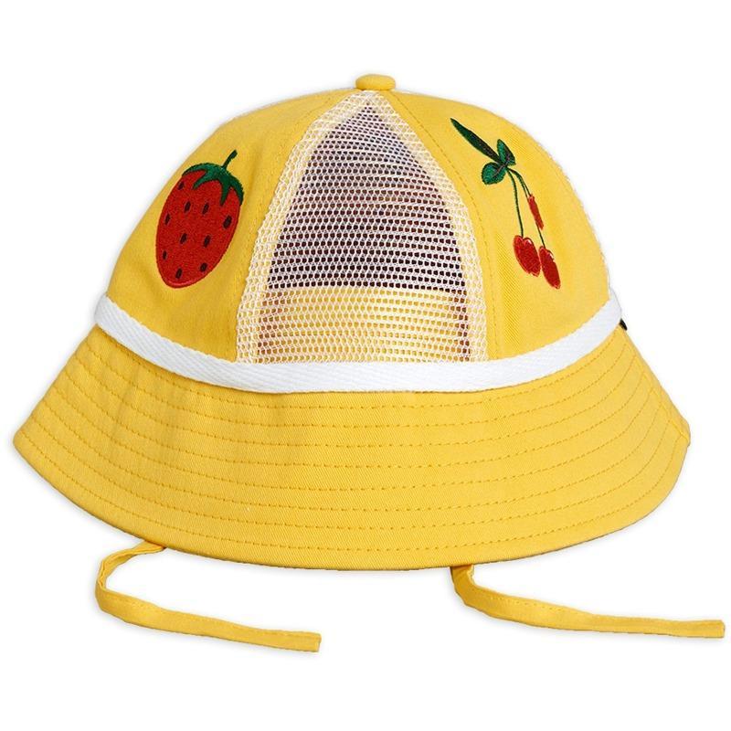 mini rodini mesh sun hat yellow