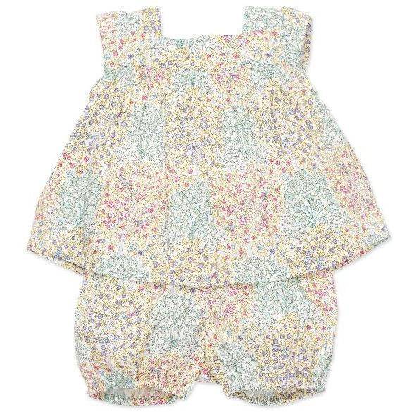 bonton liberty floral baby set pastel