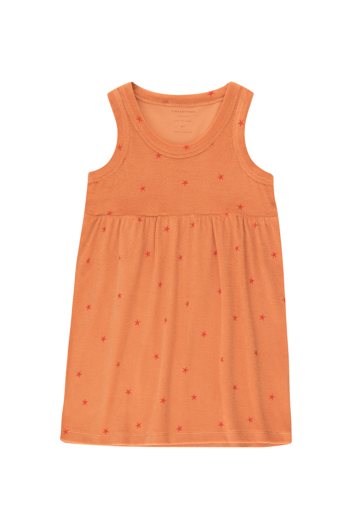tinycottons starfish dress papaya red
