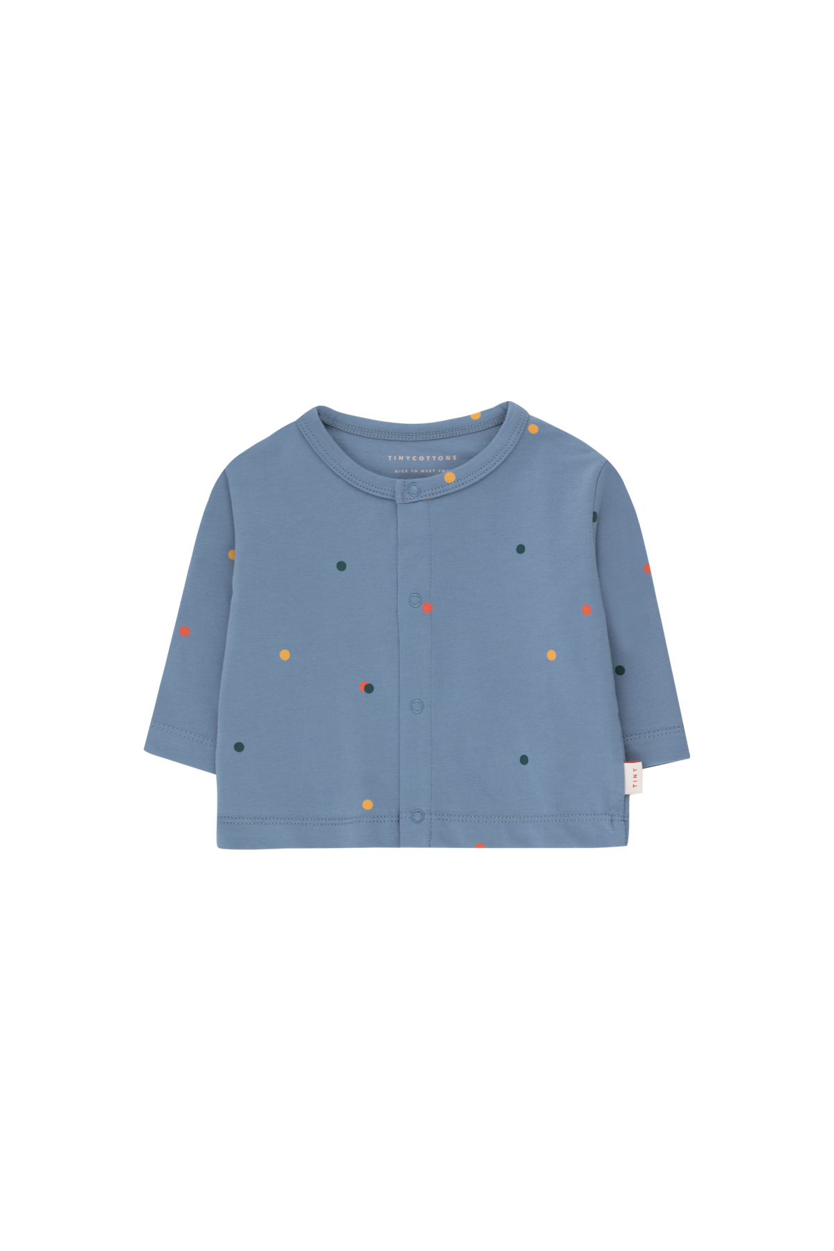 tinycottons ice cream dots baby cardigan grey blue