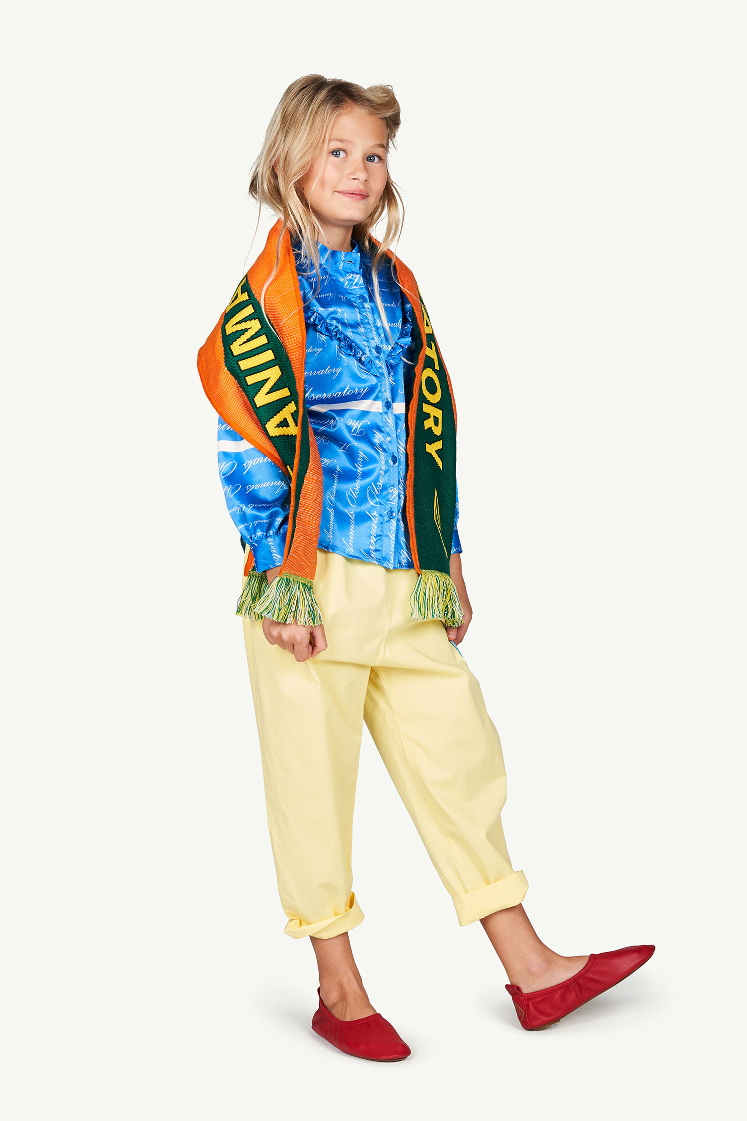 the animals observatory elephant kids trousers yellow tree