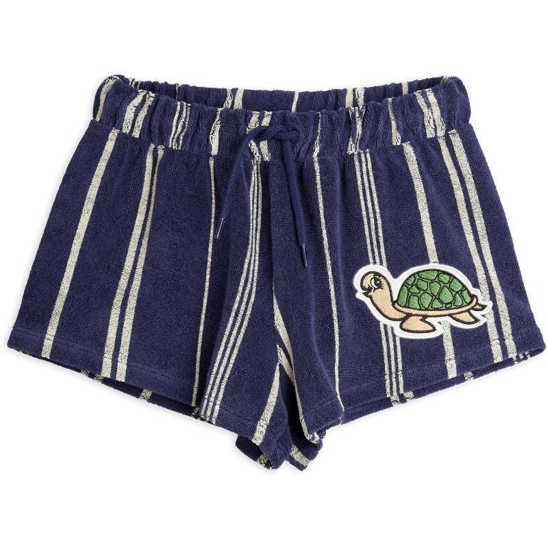 mini rodini turtle terry shorts navy