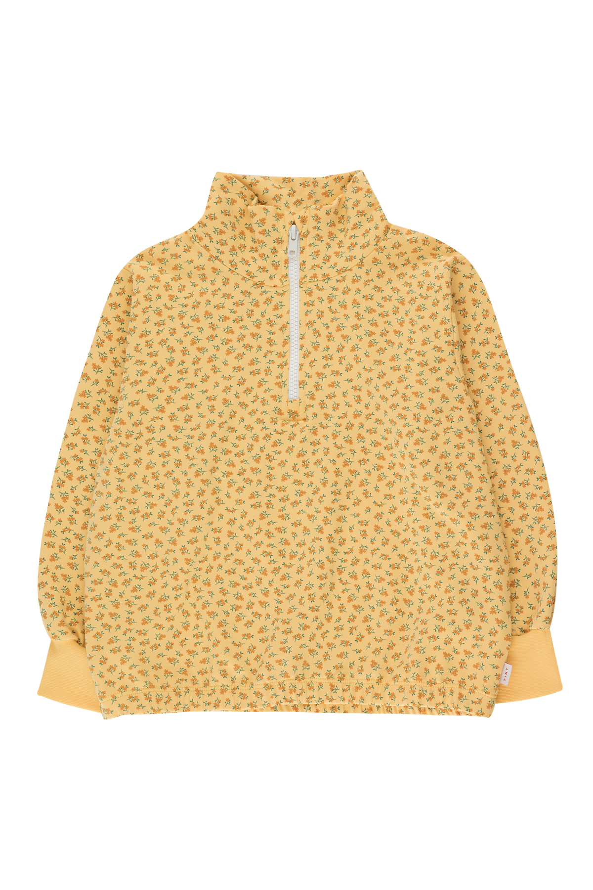 tinycottons small flowers mockneck sweatshirt yellow honey