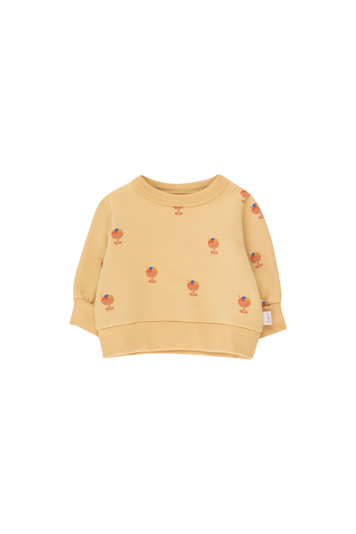 tinycottons ice cream cup baby sweatshirt sand papaya