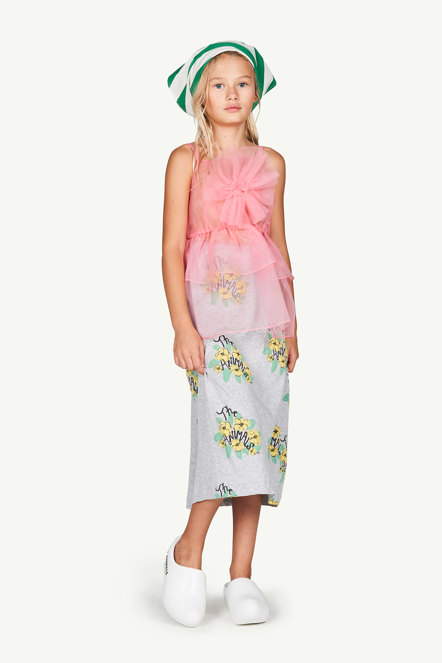 the animals observatory dragonfly kids dress soft pink logo