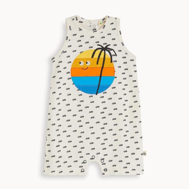 the bonnie mob del mar sleeveless shorty playsuit sunset