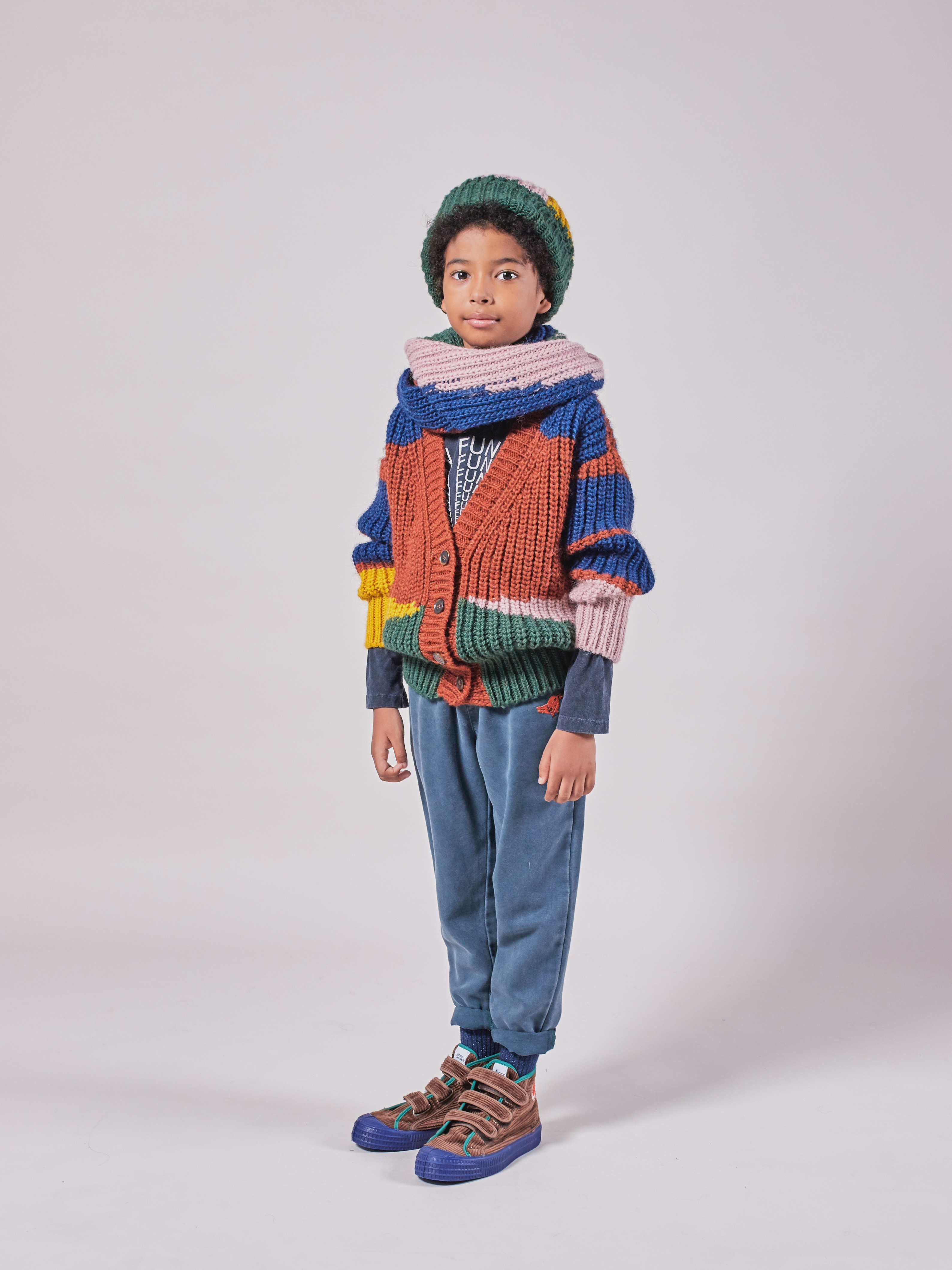 bobo choses color block cardigan