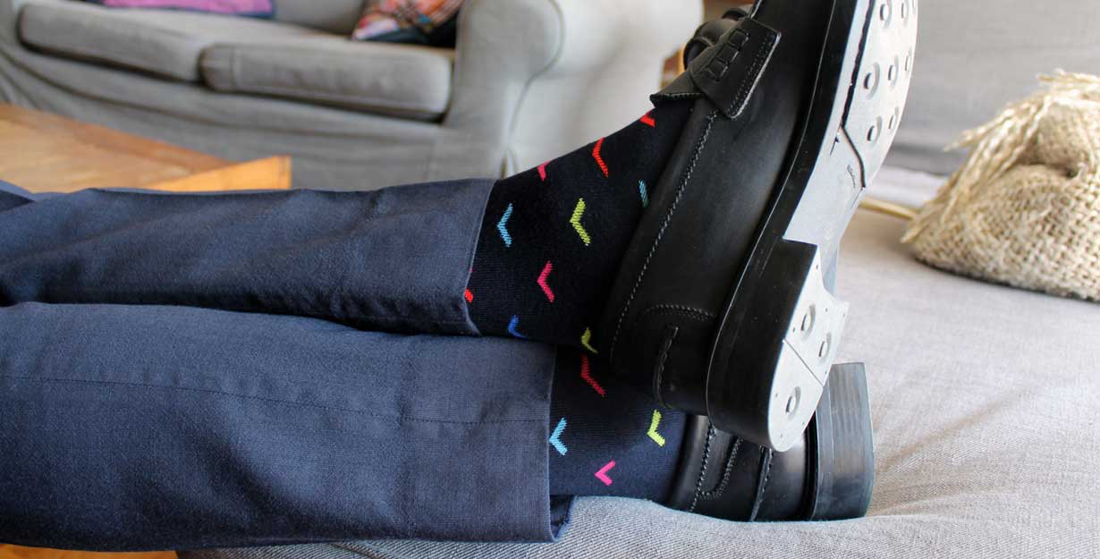 Funky socks matching to shoes