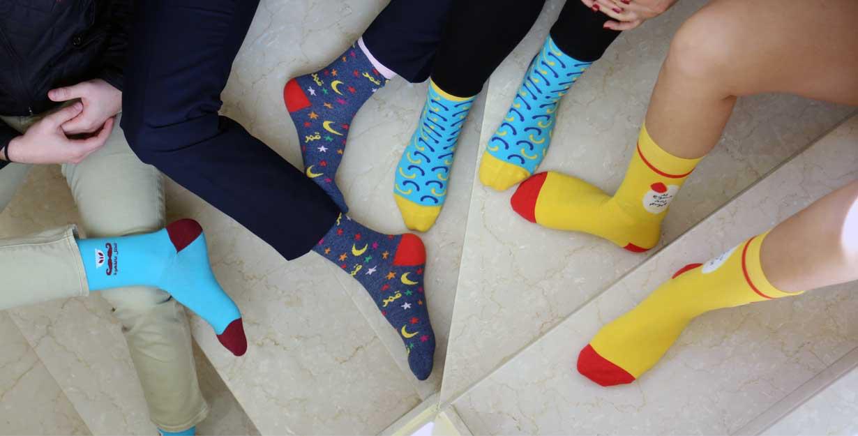 Feet in Sikasok funky socks