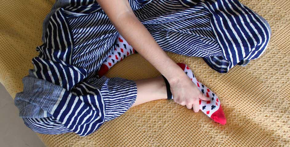 Avoid cold feet with socks