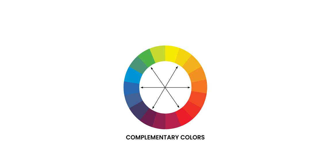 Complementary colors - color wheel