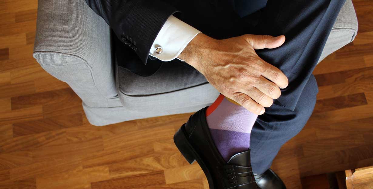 Cufflinks on a suit